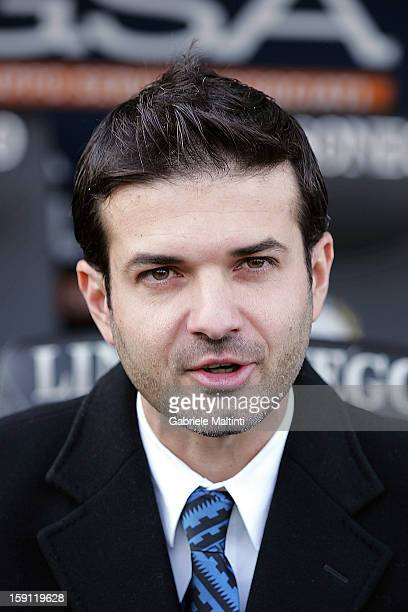 Internazionale Milano head coach Andrea Stramaccioni looks during the Serie A match between Udinese Calcio and FC Internazionale Milan at Stadio...