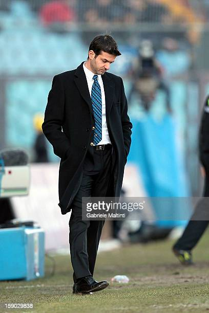 Internazionale Milano head coach Andrea Stramaccioni shows his dejection during the Serie A match between Udinese Calcio and FC Internazionale Milan...