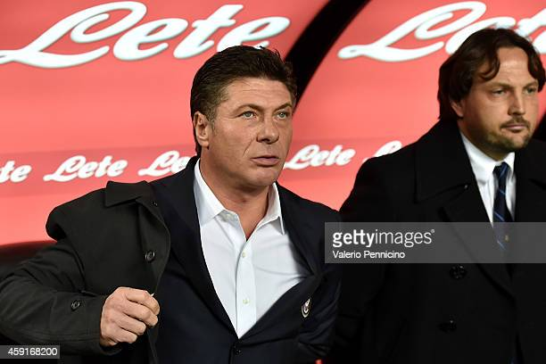 Internazionale Milano head coach Walter Mazzarri looks on during the Serie A match between FC Internazionale Milano and Hellas Verona FC at Stadio...
