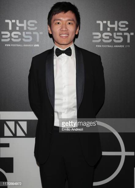 Internazionale Milano president Steven Zhang attends the green carpet prior to during The Best FIFA Football Awards 2019 at the Teatro alla Scala on...