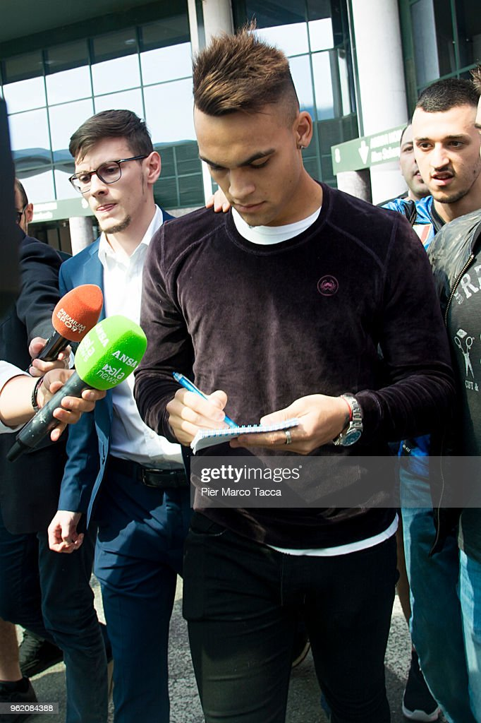 FC Internazionale New Signing Lautaro Martinez Arrives In Milan