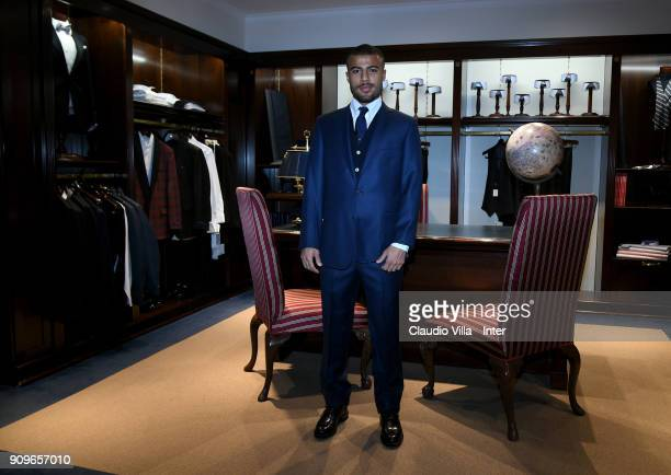 Internazionale new signing Rafael Alcântara do Nascimento Rafinha visits Brooks Brothers Store on January 23 2018 in Milan Italy