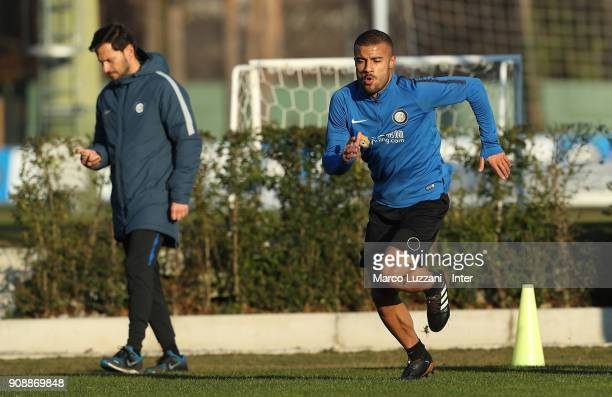 Internazionale new signing Rafinha runs during physical tests at the club's training ground Suning Training Center in memory of Angelo Moratti on...