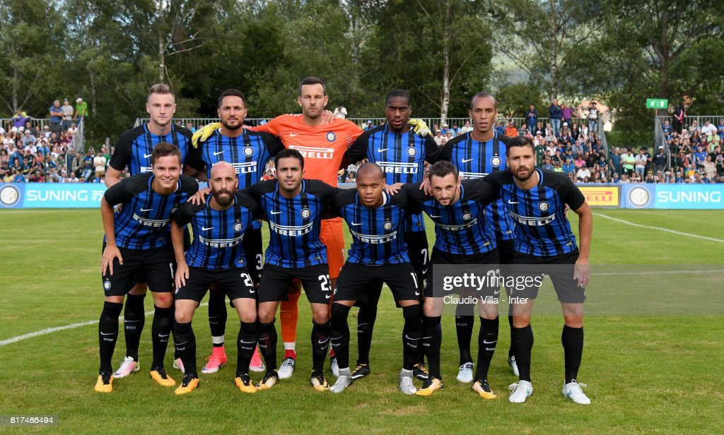 FC Internazionale pose for a photo during the Pre-Season Friendly match between FC Internazionale and Nurnberg on July 15, 2017 in Bruneck, Italy.