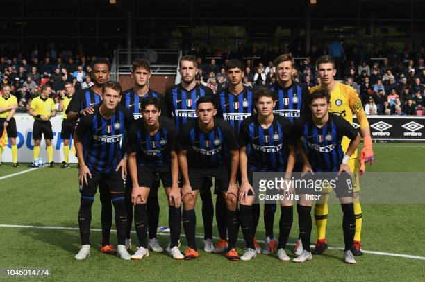 Internazionale pose for a photo during the the UEFA Youth League match between PSV U19 and FC Internazionale U19 at Philips Stadion on October 3 2018...