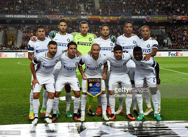 Internazionale pose for a photo prior to the UEFA Europa League match between AC Sparta Praha and FC Internazionale Milano at Generali Arena Stadium...