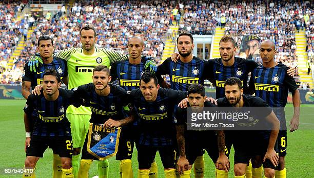 Internazionale poses during the Serie A match between FC Internazionale and Juventus FC at Stadio Giuseppe Meazza on September 18 2016 in Milan Italy