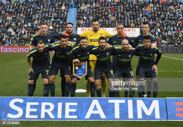 Internazionale poses for a photo during the serie A match between Spal and FC Internazionale at Stadio Paolo Mazza on January 28 2018 in Ferrara Italy