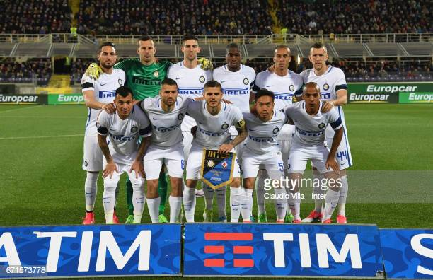 Internazionale poses for a photo prior to the Serie A match between ACF Fiorentina v FC Internazionale at Stadio Artemio Franchi on April 22 2017 in...