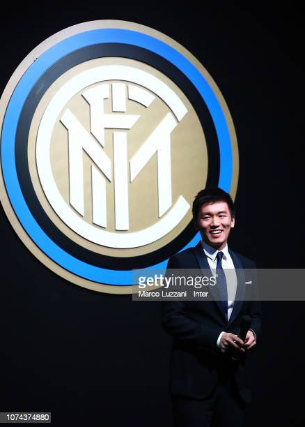 Internazionale president Steven Zhang attends the FC Internazionale Xmas Dinner on December 18, 2018 in Milan, Italy.