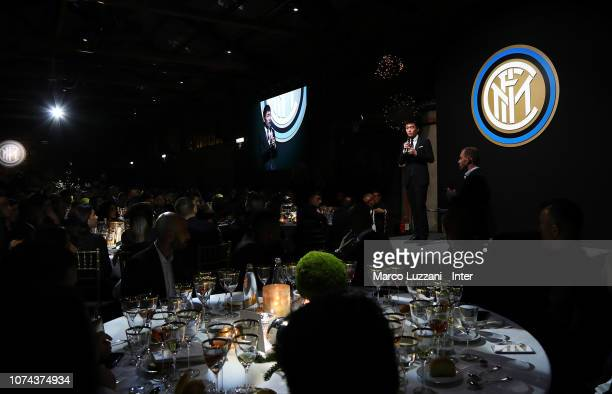 Internazionale president Steven Zhang attends the FC Internazionale Xmas Dinner on December 18 2018 in Milan Italy