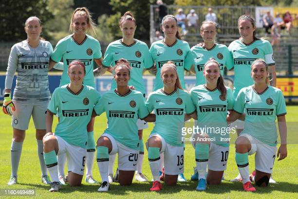 Internazionale team line up prior to the friendly match between FC Internazionale Women and Trento Clarentia on August 9 2019 in Trento Italy