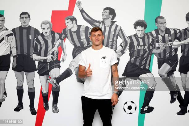 Internazionale unveils new signing Nicolo Barella on July 12 2019 in Milan Italy