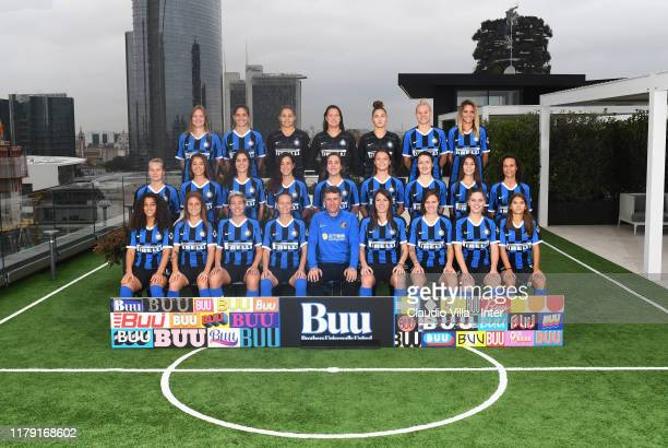 Internazionale Women poses for Official Team Photo on October 30 2019 in Milan Italy