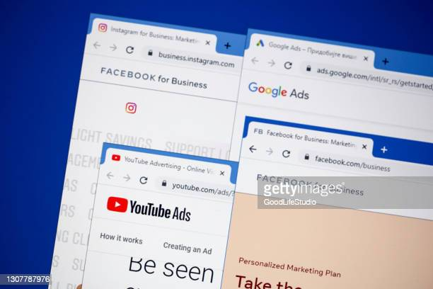 internet advetising - google icon stock pictures, royalty-free photos & images