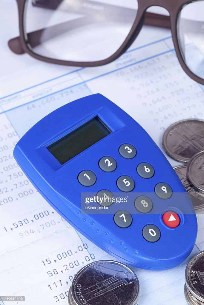 Internet Banking secure pin generator with coins : Stock Photo