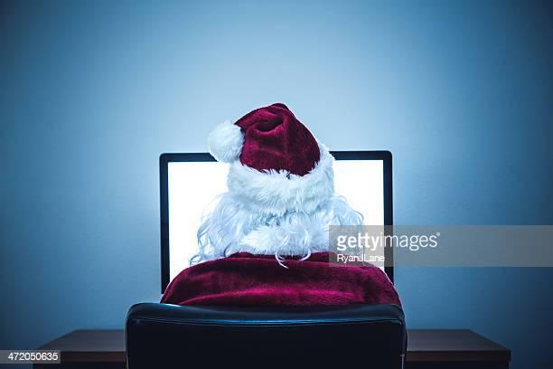 Internet-Surfen Santa Claus