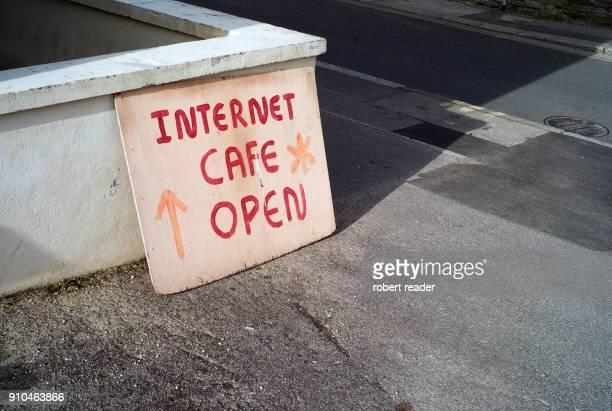 Internet cafe open sign