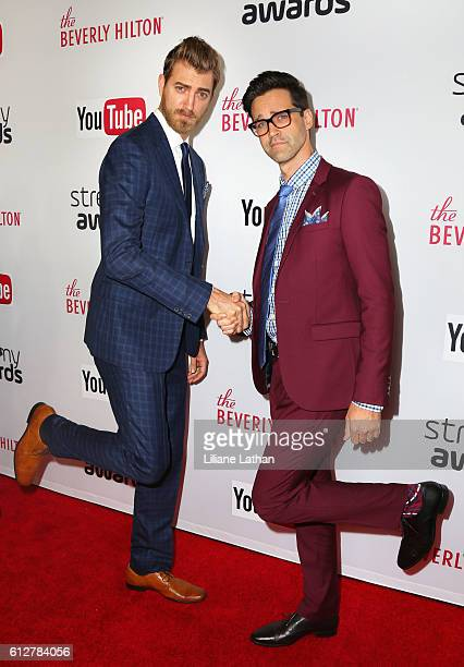 Internet Comedy Duo Rhett and Link arrive at the Steamy Awards at The Beverly Hilton Hotel on October 4 2016 in Beverly Hills California