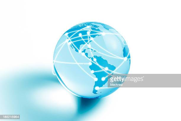 Internet Globe of Asia and Australia