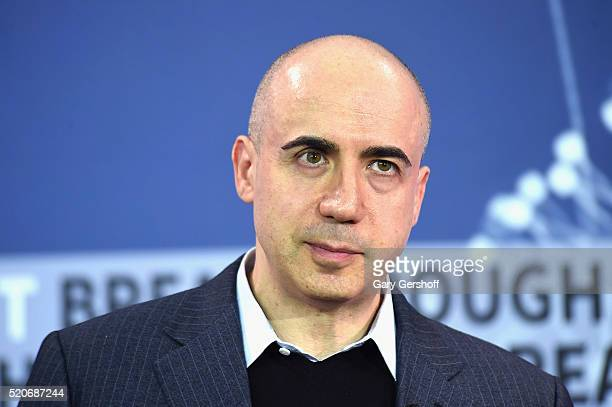 Internet investor and science philanthropist Yuri Milner attends the New Space Exploration Initiative Breakthrough Starshot Announcement at One World...