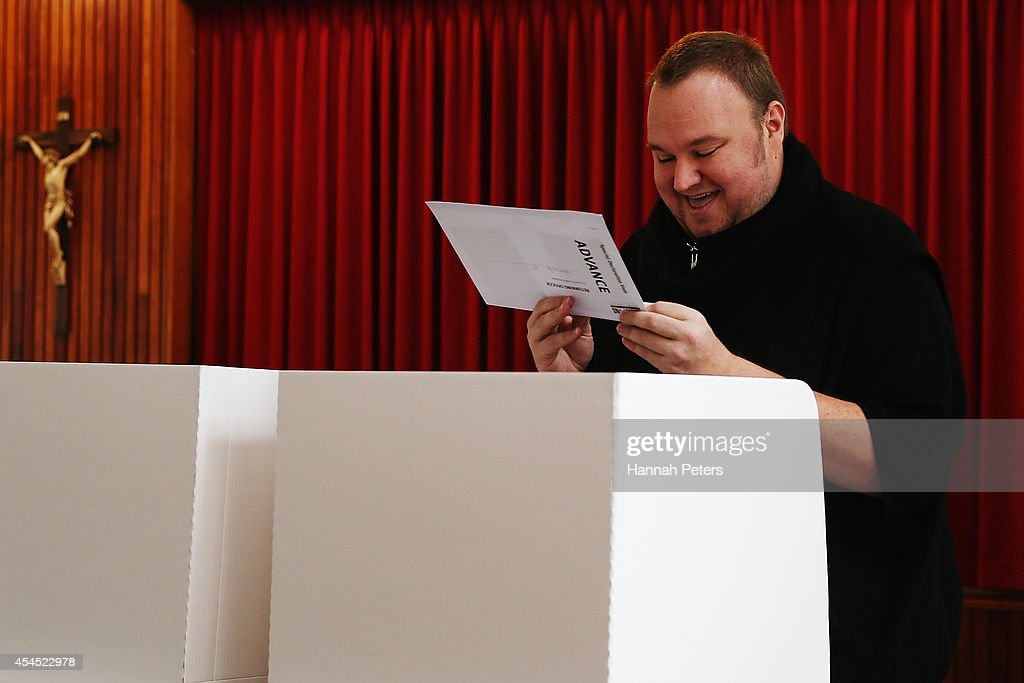 Kim Dotcom Casts His Advance Vote Ahead of 2014 Election