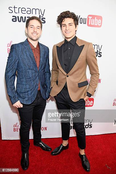 Internet personalities Andrew Hecox and Anthony Padilla attend the 6th annual Streamy Awards hosted by King Bach and live streamed on YouTube at The...
