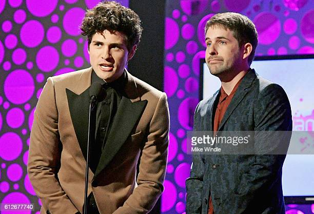 Internet personalities Anthony Padilla and Ian Hecox speak onstage during the 6th annual Streamy Awards hosted by King Bach and live streamed on...