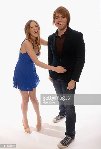 Internet personalities Eden Sher and Shane Dawson pose for a portrait in the TV Guide Portrait Studio at the 3rd Annual Streamy Awards at Hollywood...