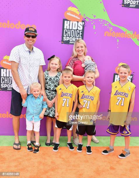 Internet Personalities Family Fun Pack Attends The Nickelodeon Kids Choice Sports Awards 2017 At Pauley