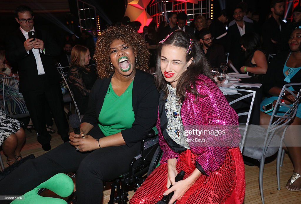 Internet personalities GloZell (L) and Colleen Ballinger aka Miranda Sings attend VH1's 5th Annual Streamy Awards at the Hollywood Palladium on Thursday, September 17, 2015 in Los Angeles, California.