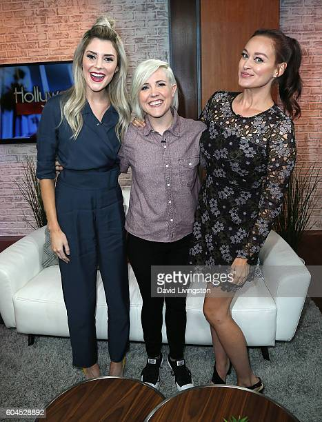 Internet personalities Grace Helbig Hannah Hart and Mamrie Hart visit Hollywood Today Live at W Hollywood on September 13 2016 in Hollywood California
