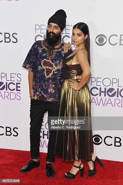 Internet personalities Humble The Poet and Lilly Singh attend the People's Choice Awards 2017 at Microsoft Theater on January 18 2017 in Los Angeles...