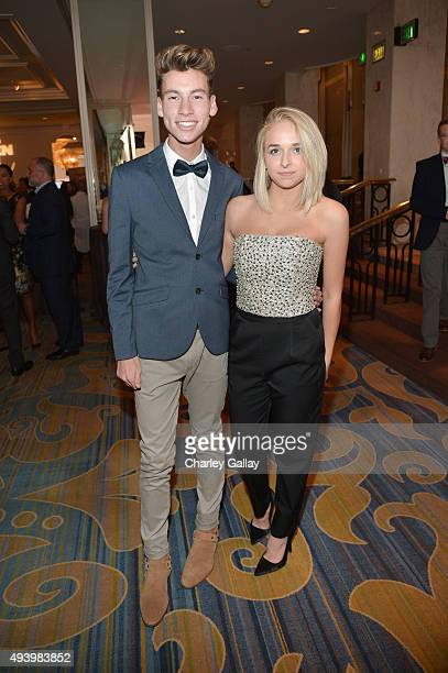Internet personalities Jack Baran and Jen McAllister attend the 2015 GLSEN Respect Awards at the Beverly Wilshire Four Seasons Hotel on October 23...