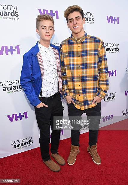 Internet personalities Jack Johnson and Jack Gilinsky attend VH1's 5th Annual Streamy Awards at the Hollywood Palladium on Thursday September 17 2015...