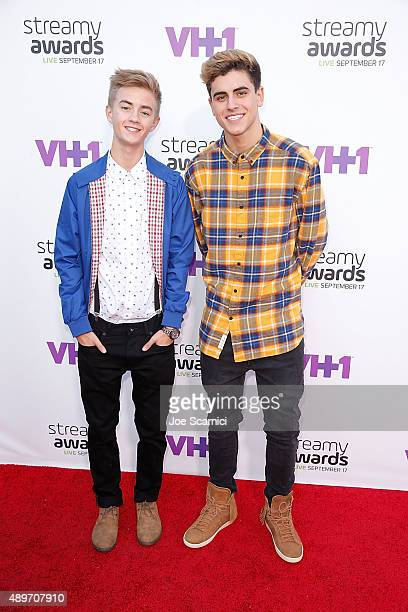 Internet personalities Jack Johnson and Jack Gilinsky attend VH1's 5th Annual Streamy Awards at Hollywood Palladium on September 17 2015 in Los...