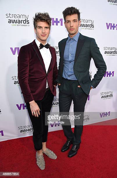 Internet personalities Joey Graceffa and Daniel Christopher Preda attend VH1's 5th Annual Streamy Awards at the Hollywood Palladium on Thursday...