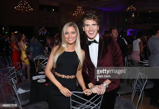 Internet personalities Justine Ezarik and Joey Graceffa attend VH1's 5th Annual Streamy Awards at the Hollywood Palladium on Thursday September 17...