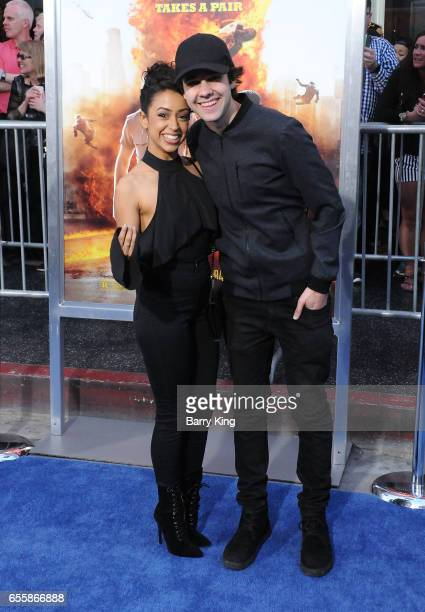 Internet personalities Liza Koshy and David Dobrik arrive at the premiere of Warner Bros Pictures' 'CHiPS' at TCL Chinese Theatre on March 20 2017 in...