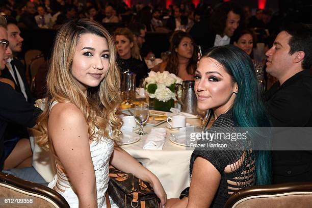 Internet personalities Mia Stammer and Niki DeMartino attend the 6th annual Streamy Awards hosted by King Bach and live streamed on YouTube at The...
