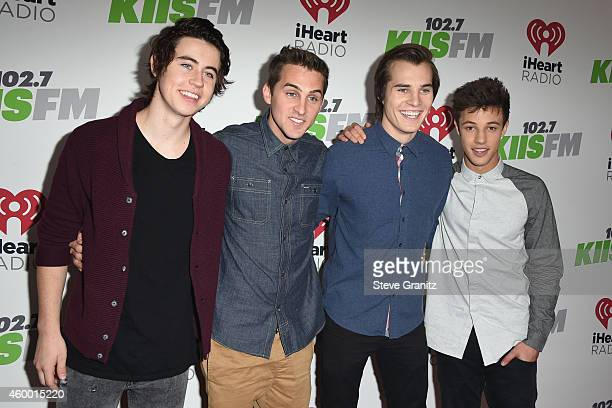 Internet personalities Nash Grier Cody Johns Marcus Johns and Cameron Dallas attend KIIS FM's Jingle Ball 2014 powered by LINE at Staples Center on...