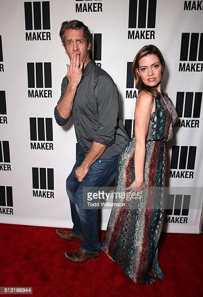 Internet personalities Penn Holderness and Kim Holderness of The Holderness Family attend the Maker Studios' SPARK premiere at Arclight Cinemas on...