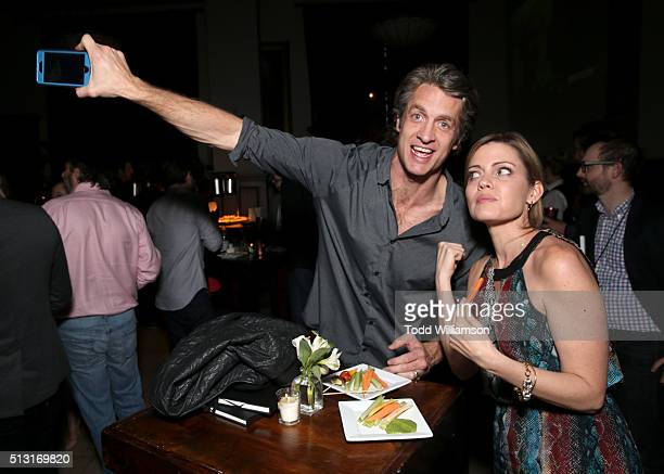 Internet personalities Penn Holderness and Kim Holderness of The Holderness Family attend the Maker Studios SPARK premiere after party at the Culver...