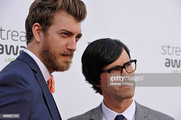 Internet personalities Rhett McLaughlin and Charles 'Link' Neal III of Rhett Link attend the 5th Annual Streamy Awards at Hollywood Palladium on...