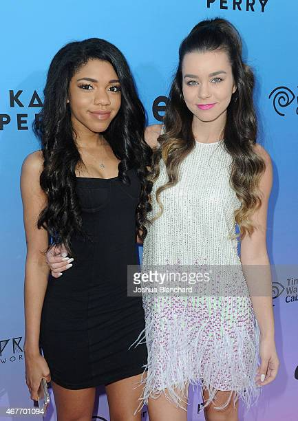 Internet personalities Teala Dunn and Sierra Furtado attend during EPIX and Time Warner Cable World Premier Screening Of Katy Perry The Prismatic...