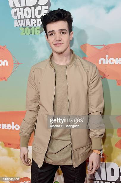Internet personality Aaron Carpenter attends Nickelodeon's 2016 Kids' Choice Awards at The Forum on March 12 2016 in Inglewood California