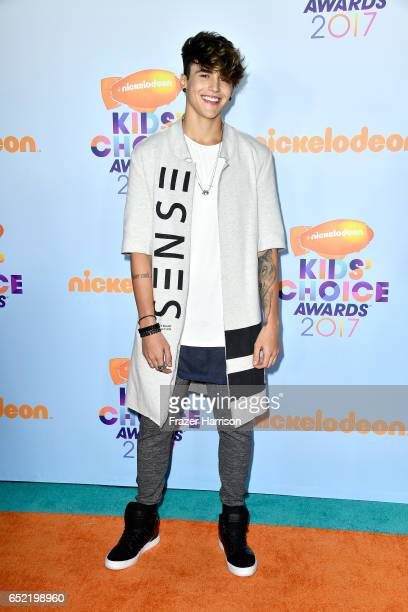 Internet personality Alex Mapeli at Nickelodeon's 2017 Kids' Choice Awards at USC Galen Center on March 11 2017 in Los Angeles California
