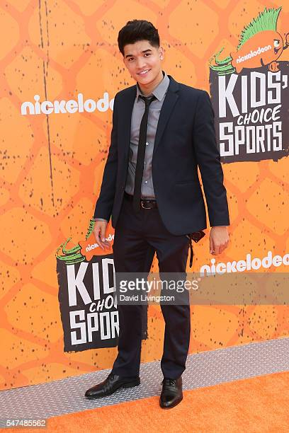 Internet personality Alex Wassabi arrives at the Nickelodeon Kids' Choice Sports Awards 2016 at the UCLA's Pauley Pavilion on July 14 2016 in...
