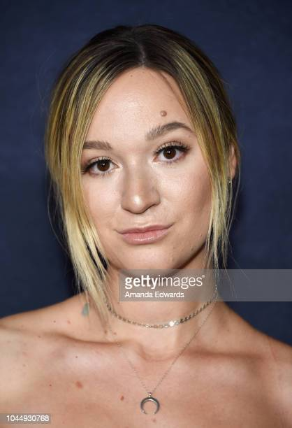 Internet personality Alisha Marie arrives at the ATT Hello Lab's Guilty Party History Of Lying Season 2 Premiere at the ArcLight Hollywood on October...