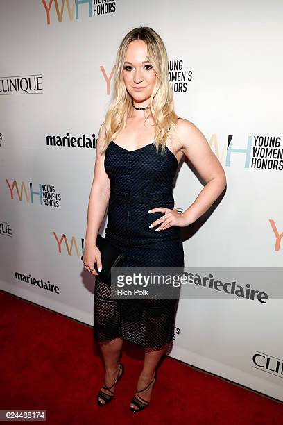 Internet personality Alisha Marie attends Marie Claire Young Women's Honors presented by Clinique at Marina del Rey Marriott on November 19 2016 in...